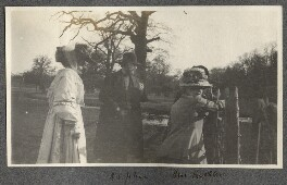 Lady Ottoline Morrell; Augustus John; Mrs Kochlin; Dorelia McNeill, possibly by Philip Edward Morrell - NPG Ax140135