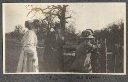 Lady Ottoline Morrell; Augustus John; Mrs Kochlin; Dorelia McNeill, possibly by Philip Edward Morrell, June 1909 - NPG Ax140135 - © National Portrait Gallery, London