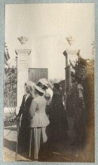 Emily Chadbourne; Mrs Kochlin; Dorelia McNeill; Augustus John, by Lady Ottoline Morrell - NPG Ax140137