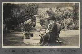 'In the garden at Black Hall' (Harriette Morrell (née Wynter)), by Lady Ottoline Morrell - NPG Ax140147