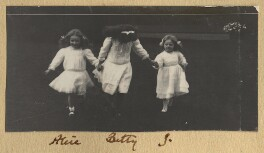 Alice Watt (née Cavendish-Bentinck); Elizabeth Wethered (née Cavendish-Bentinck); Julian Vinogradoff (née Morrell), by Lady Ottoline Morrell - NPG Ax140152