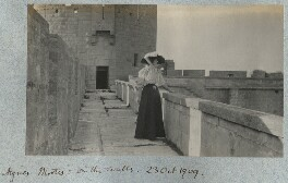 Lady Ottoline Morrell ('Aigues-Mortes: on the walls'), by Philip Edward Morrell - NPG Ax140162