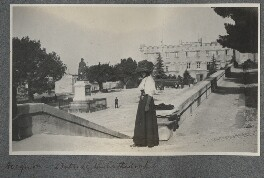 Lady Ottoline Morrell ('Avignon: outside the cathedral'), by Philip Edward Morrell - NPG Ax140172