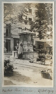Lady Ottoline Morrell ('Market Place: Vienne'), by Philip Edward Morrell - NPG Ax140176