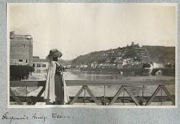 Lady Ottoline Morrell ('Suspension Bridge: Vienne'), by Philip Edward Morrell - NPG Ax140177