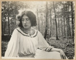 Lady Ottoline Morrell, possibly by Philip Edward Morrell - NPG Ax140188