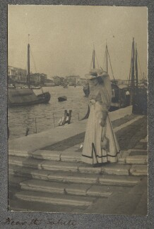 Lady Ottoline Morrell ('Near the Salute'), by Philip Edward Morrell - NPG Ax140054