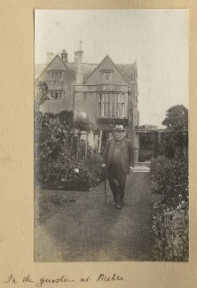 'In the garden at Mells' (Richard Burdon Haldane, Viscount Haldane), by Lady Ottoline Morrell - NPG Ax140130
