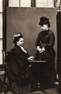 Queen Victoria; Princess Louise Caroline Alberta, Duchess of Argyll, by Hills & Saunders - NPG x44634