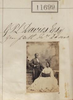 James Pinson Labulo Davies; Sarah Forbes Bonetta (Sarah Davies), by Camille Silvy, 15 September 1862 - NPG Ax61382 - © National Portrait Gallery, London
