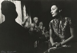 Han Suyin (née Elizabeth Kuanghu Chow, later Comber) with a Henry Moore sculpture, by Ida Kar - NPG x127124