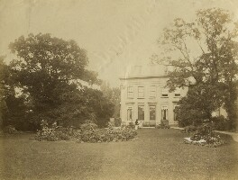 Eveleen Myers (née Tennant); Leopold Hamilton Myers at Brandon House, Cheltenham, by Unknown photographer - NPG Ax68302