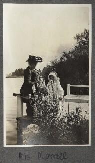 Harriette Morrell (née Wynter); Julian Vinogradoff (née Morrell), by Lady Ottoline Morrell - NPG Ax140251