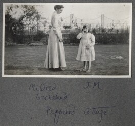 Julian Vinogradoff (née Morrell) with her nanny Billy Townshend, by Lady Ottoline Morrell - NPG Ax140272