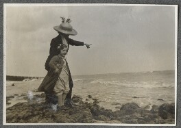 Julian Vinogradoff (née Morrell) and her nanny Billy Townshend, by Lady Ottoline Morrell - NPG Ax140290