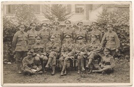 John Nash and fourteen soldiers, by Unknown photographer, 1917 - NPG x127172 - © National Portrait Gallery, London
