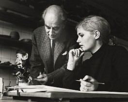 John Nash teaching plant drawing, by Peter Strickland, 1960s - NPG x127181 - © reserved; collection National Portrait Gallery, London