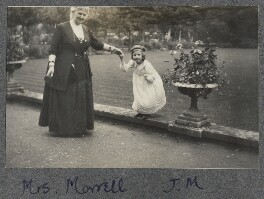 Harriette Morrell (née Wynter) with her granddaughter Julian Vinogradoff (née Morrell), by Lady Ottoline Morrell - NPG Ax140308