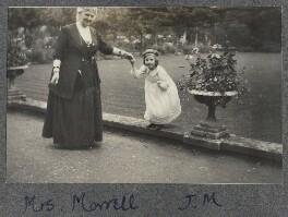 Harriette Morrell (née Wynter) with her granddaughter Julian Vinogradoff (née Morrell), by Lady Ottoline Morrell - NPG Ax140308