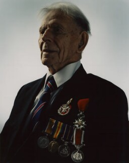 Harry Patch, by Giles Price, 7 December 2004 - NPG x127190 - © Giles Price
