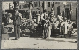 Market Square, by Lady Ottoline Morrell - NPG Ax140323