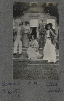 Lady Ottoline Morrell with friends, by Unknown photographer - NPG Ax140325