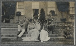 Lady Ottoline Morrell with friends, by Unknown photographer - NPG Ax140331