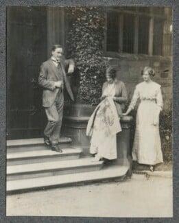 Hon. Edward James Kay-Shuttleworth; Lady Ottoline Morrell; Hon. Catherine Blanche Leaf (née Kay-Shuttleworth), by Philip Edward Morrell - NPG Ax140382