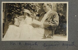 Katharine Frances Asquith (née Horner); Raymond Asquith, by Lady Ottoline Morrell - NPG Ax140417