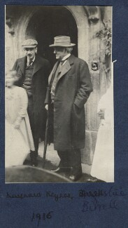 Julian Vinogradoff (née Morrell); Maynard Keynes, Baron Keynes; Augustine Birrell, by Lady Ottoline Morrell - NPG Ax140424