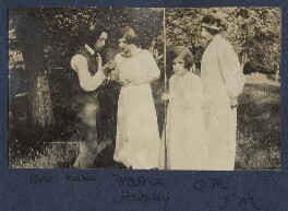 Michio Ito; Maria Huxley (née Nys); Julian Vinogradoff (née Morrell); Lady Ottoline Morrell, by Unknown photographer - NPG Ax140430