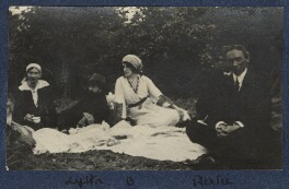 'Picnic in the woods', by Unknown photographer, September 1915 - NPG Ax140442 - © National Portrait Gallery, London