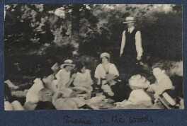'Picnic in the woods', by Unknown photographer, September 1915 - NPG Ax140444 - © National Portrait Gallery, London
