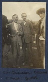 Eric Charles Dickinson; Edward Joseph Harrington O'Brien; Mark Gertler, by Lady Ottoline Morrell - NPG Ax140453