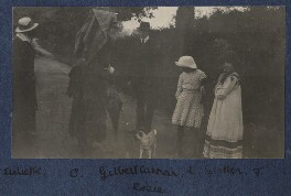 Lady Ottoline Morrell with friends, by Unknown photographer - NPG Ax140479