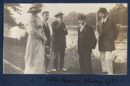 Lady Ottoline Morrell; Sydney Spencer; William Spencer; Sir Stanley Spencer; Gilbert Spencer, by Philip Edward Morrell, 1914 - NPG Ax140481 - © National Portrait Gallery, London