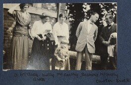 Lady Ottoline Morrell with friends, by Philip Edward Morrell - NPG Ax140483