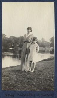 Mary ('Molly') MacCarthy (née Warre-Cornish), Lady MacCarthy; Michael MacCarthy, by Lady Ottoline Morrell - NPG Ax140485