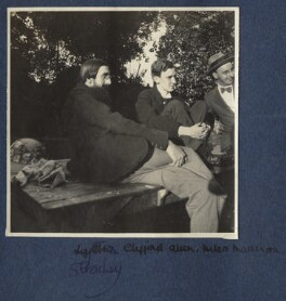 Lytton Strachey; (Reginald) Clifford Allen, 1st Baron Allen of Hurtwood; (William) Miles Malleson, by Unknown photographer - NPG Ax140490