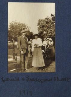Gerald Frank Shove; Fredegond Shove (née Maitland), by Lady Ottoline Morrell - NPG Ax140502