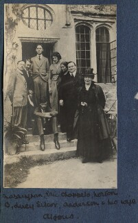 Lady Ottoline Morrell with friends, possibly by Philip Edward Morrell - NPG Ax140544