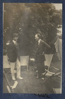 Clive Bell and an unknown man, by Lady Ottoline Morrell - NPG Ax140549