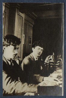 Aldous Huxley; Mark Gertler; Arthur Murry, by Lady Ottoline Morrell, 1917 - NPG Ax140598 - © National Portrait Gallery, London