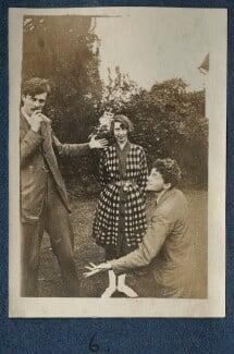 Aldous Huxley; Dorothy Brett; Mark Gertler, by Lady Ottoline Morrell, 1917 - NPG Ax140690 - © National Portrait Gallery, London