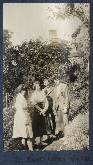 Julian Vinogradoff (née Morrell); Dorothy Brett; Geoffrey Nelson; Mark Gertler, by Lady Ottoline Morrell, 1919 - NPG Ax140696 - © National Portrait Gallery, London