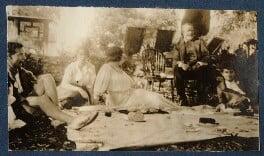Geoffrey Nelson; Dorothy Brett; Lady Ottoline Morrell; Mr Blay; Mark Gertler, by Unknown photographer - NPG Ax140699