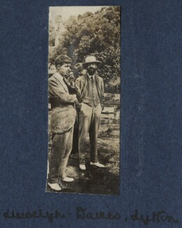 Michael Llewelyn Davies; Lytton Strachey, by Lady Ottoline Morrell - NPG Ax140728