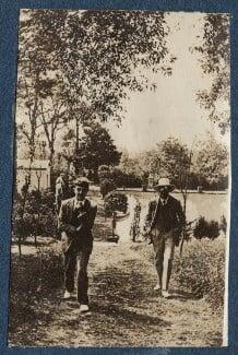 Michael Llewelyn Davies; Lytton Strachey, by Lady Ottoline Morrell - NPG Ax140736