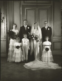 The wedding of Sir John Heathcoat Amory and Joyce Wethered, by Bassano Ltd, 6 January 1937 - NPG x124406 - © National Portrait Gallery, London