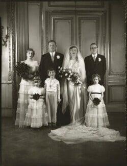 The wedding of Sir John Heathcoat Amory and Joyce Wethered, by Bassano Ltd, 6 January 1937 - NPG x124406 - © National Portrait Gallery, London